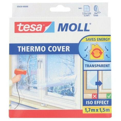 Film de survitrage Thermo Cover Tesa - Longueur 1,7 m - Largeur 1,5 m - Transparent