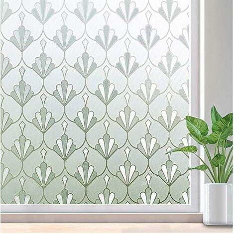 Film de verre fenêtre film décoration murale bureau film fenêtre électricité statique coquille fleur 50x300 cm