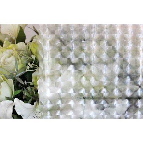 Film décoratif pour vitre vitrostatique Carro - 150 x 45 cm - Transparent - Transparent