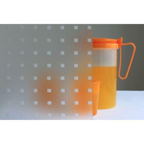 Film décoratif pour vitre vitrostatique Square - 150 x 45 cm - Blanc - Blanc
