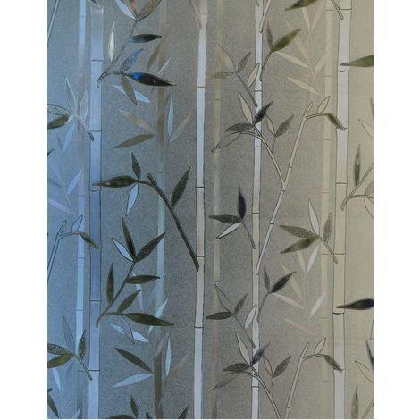 Film fenêtre Protection du vis-à-vis et déco sans colle, statique dessin Bambou