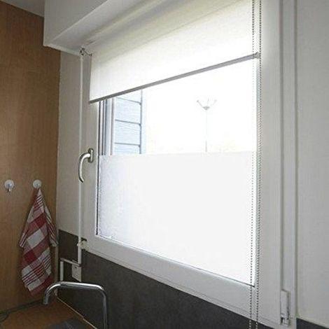 Film fenêtre Protection du vis-à-vis et déco sans colle, statique Largeur 90 cm dessin Givré dimensions au choix