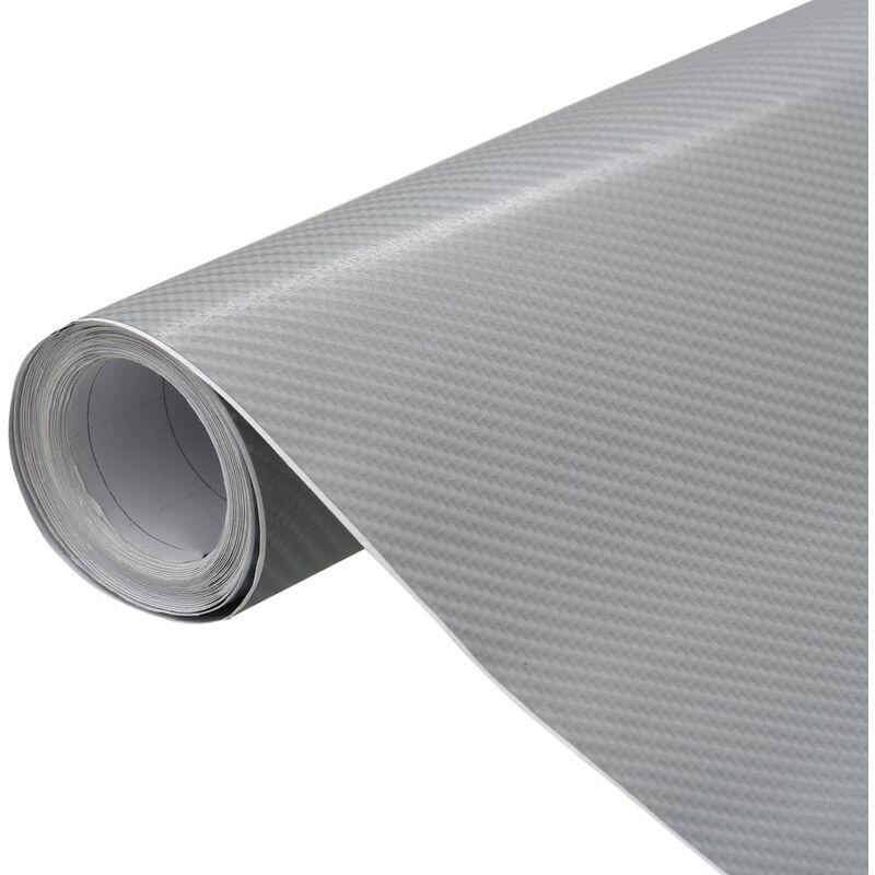 Film mat 4D de voiture Argenté 500x152 cm