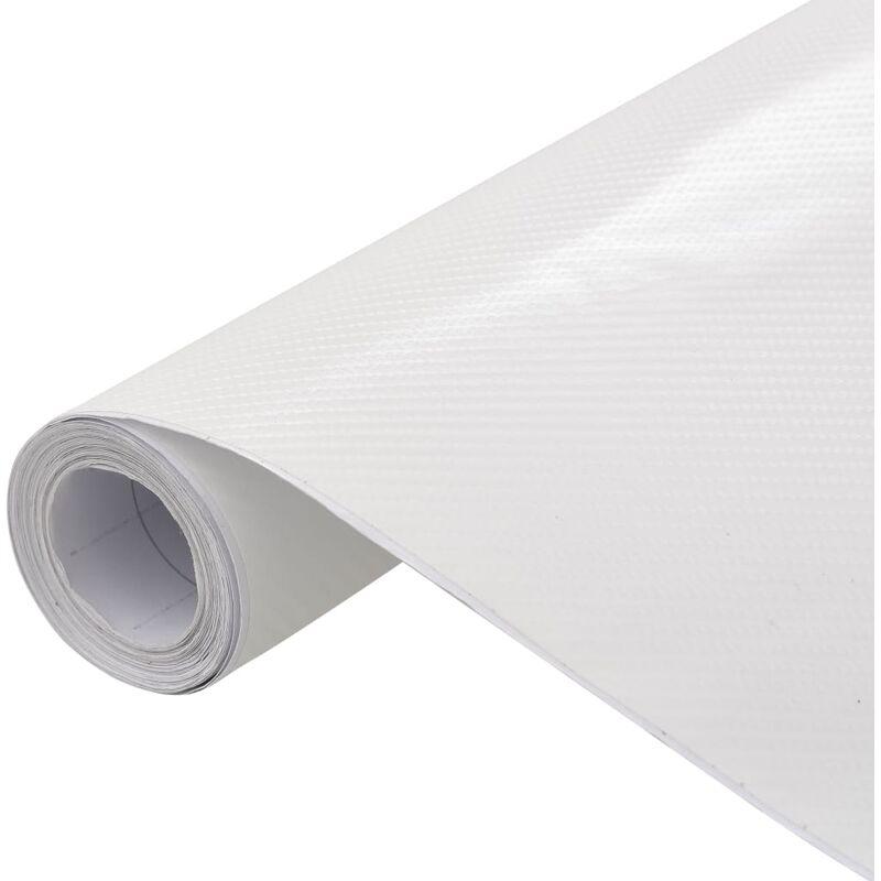 Film mat 4D de voiture Blanc 500x152 cm