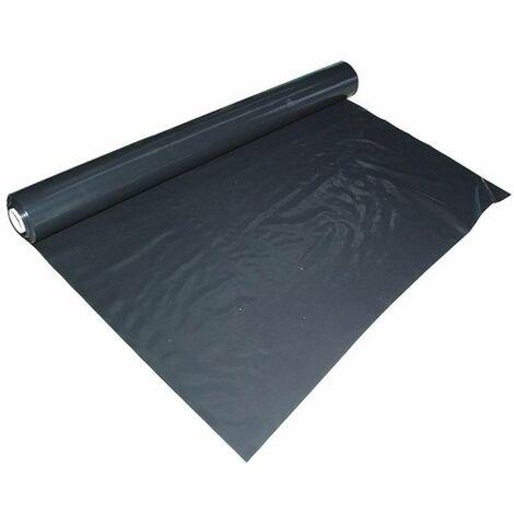 Film plastique d'étanchéité sous-dalle en polyéthylène noir Type 200, 4x25m, 70µm