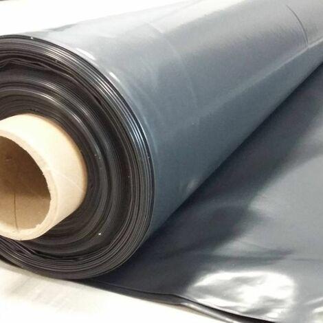 Film plastique d'étanchéité sous-dalle en polyéthylène noir Type 500, 6x33m