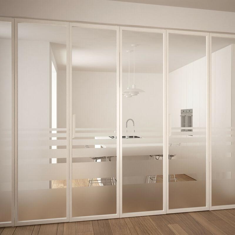 Film Plastique Verre Opale 90 X 200 Cm Adhérent Statique Opaque