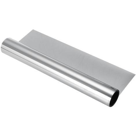 Film pour Vitrage Effet miroir Auto-adhésif PET Protection de Solaire Anti UV 70cmX400cm argent 70cm par 400cm