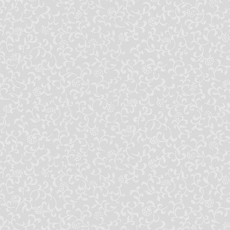 Film pour vitre vitro-statique décoratif Douces Feuilles opaque blanc 150 x 45 cm feuilles