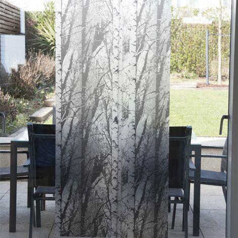 Film pour vitre vitro-statique décoratif extra-lisse Forest opaque blanc 150 x 67,5 cm forêt