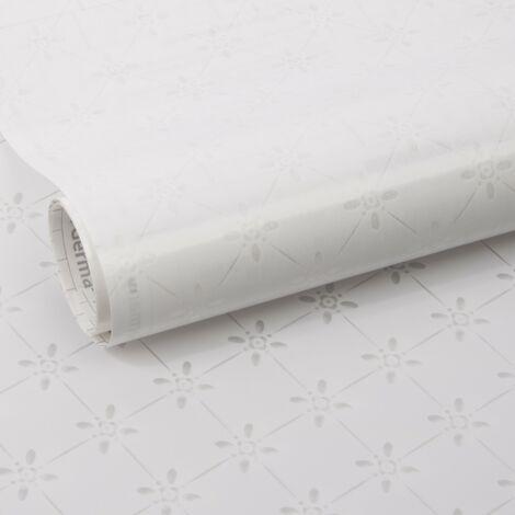 Film pour vitre vitro-statique décoratif Mini Dessin opaque blanc 150 x 45 cm graphique