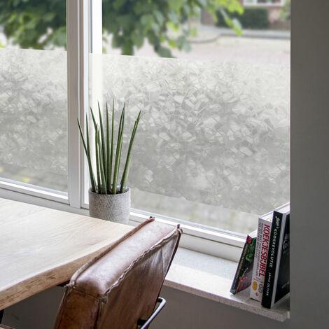 Film pour vitre vitro-statique décoratif Mosaic opaque blanc 150 x 90 cm mosaïque