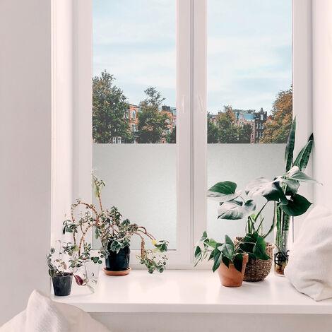 Film pour vitre vitro-statique décoratif Sable opaque blanc 150 x 67,5 cm sable