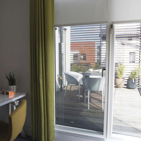 Film pour vitre vitrostatique protection solaire Protection Noir 200 x 90 cm uni