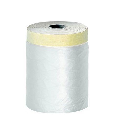 Film protection plastique + adhésif surfaces lisses 110 cm x 33 m