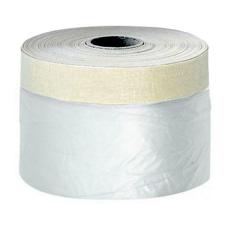 Film protection plastique + adhésif surfaces lisses 55 cm x 33 m