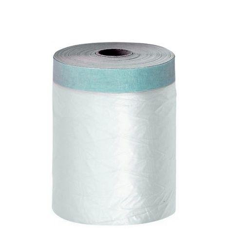 Film protection plastique avec ruban adhésif bleu haut de gamme int/ext 110 cm x 20 m