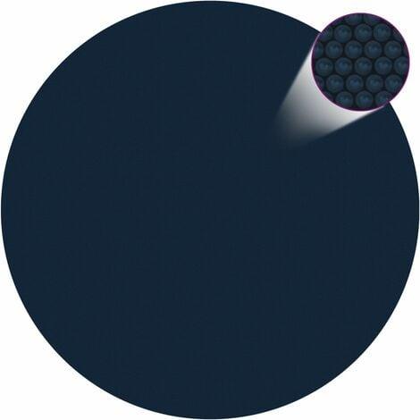 Film solaire de piscine flottant PE 488 cm Noir et bleu
