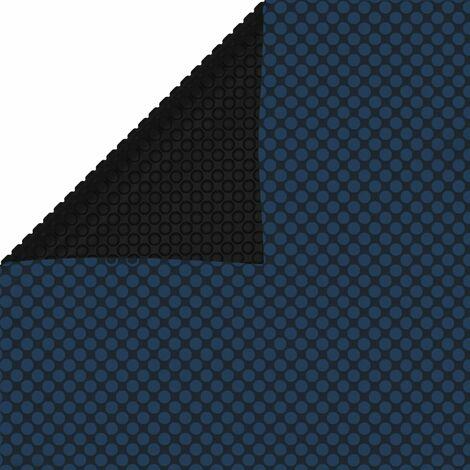 Film solaire de piscine flottant PE 488x244 cm Noir et bleu