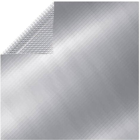 Film solaire de piscine PE rectangulaire flottant 10x5m Argente