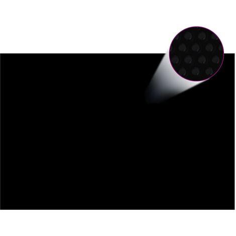 Film solaire de piscine PE rectangulaire flottant 6x4 m Noir