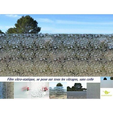 Film vitre et fenêtre sans Colle, électrostatique, repositionnable, Grands Choix de Tailles et de modèles, protection vis à vis - 250 cm - 90 cm - Bamboo.