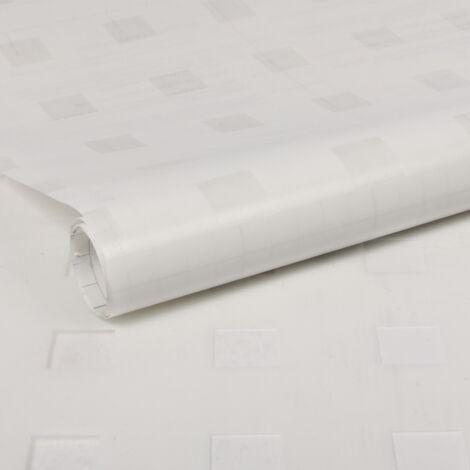 Film vitro-statique pour vitre Décoratif Carrés opaque 200 x 67,5cm Blanc