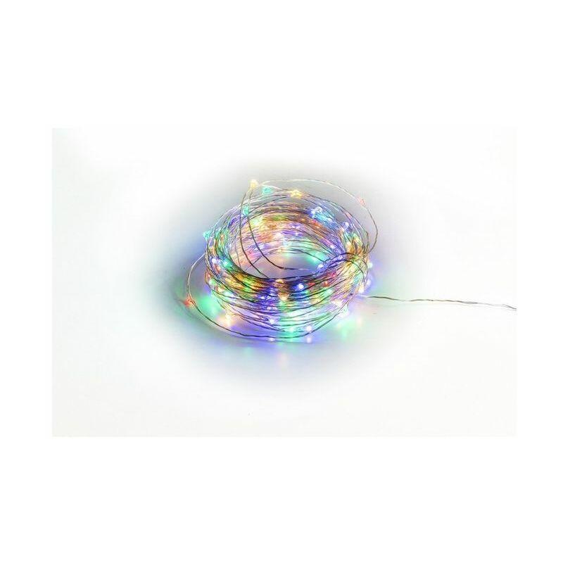 Filo di Luci Natale 180 Microled Multicolor Uso Esterno - GALILEO