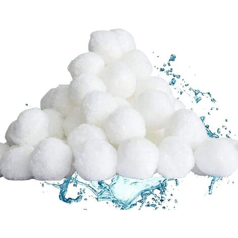 "main image of ""LangRay Filter Balls, 500g Pool Filter Balls, Filter Balls, Pool Fiber Filter Media Filtri a sabbia Filtro acqua, Filtro piscina"""