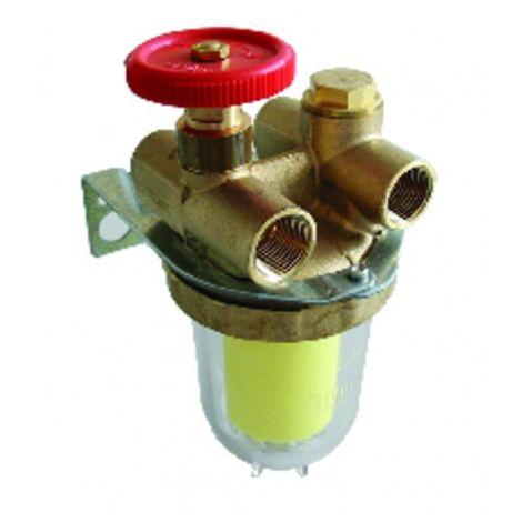 "Filter fuel 2 pipes block valve ff1/2"" sieve siku - OVENTROP : 2120261+2127500"