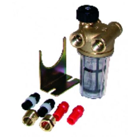 """Filter fuel 2 pipes block valve ff3/8"""" inox sieve - WATTS INDUSTRIES : 22L0133100"""