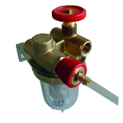 """Filter of fuel - OVENTROP Recycling with block valve FF3/8"""" - drain-cock - OVENTROP : 2122103+2127600"""