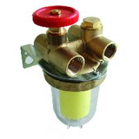 """Filter of fuel - Two pipes with block valve FF1/2"""" sieve Siku - OVENTROP : 2120261+2127500"""