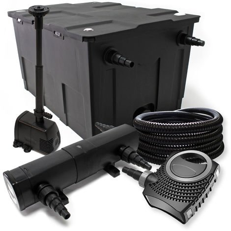 Filter Set 60000l SuperECO bomba Tubo 24 W clarificador para estanque fuente skimmer jardin