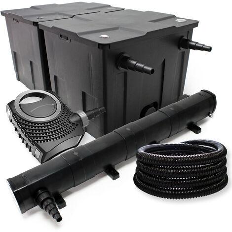 SunSun Druckteichfilter Set 30000l 18W UVC Teichkl/ärer NEO8000 70W Pumpe 25m Schlauch