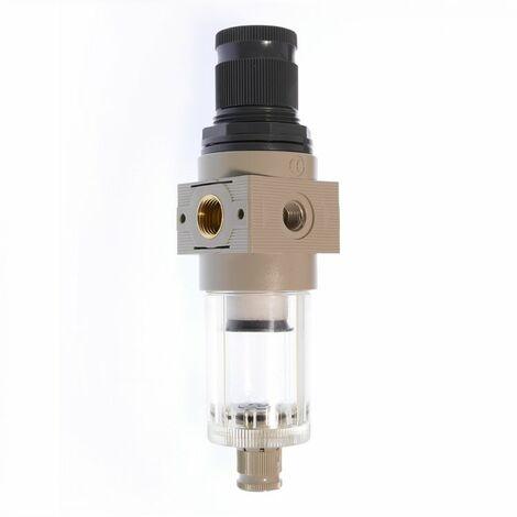 """Filterdruckminderer FDM 214-12, Grau, innen G 1/4"""", Kunststoff"""