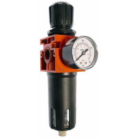 """Filterdruckregler FDM 612-12D, G 1/2"""" Regelbereich 0-12 bar Manometer Abscheider"""