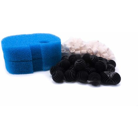 Filtermaterial Set Außenfilter HW 302 702 Bio Balls Keramik Ringe 2 Schwämme