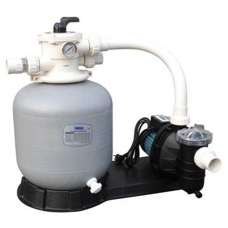 Filtration piscine hors sol Mega Pool FSF : Filtre + pompe 6 m3/h