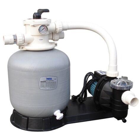 Filtration piscine hors sol Mega Pool FSF : Filtre + pompe 8 m3/h
