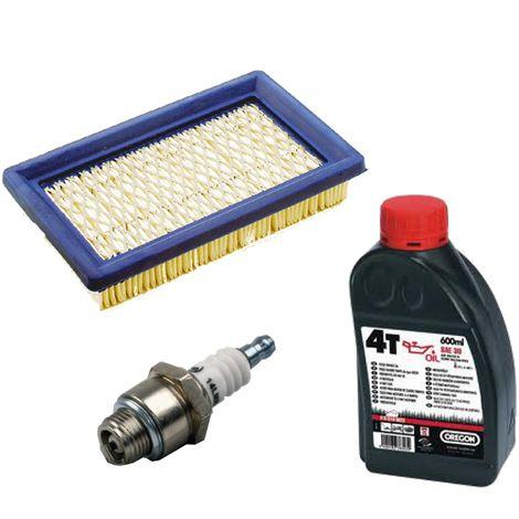 Filtre à air, filtre à air plat + bougie + huile pour tondeuse à gazon mtd ThorX, Honda gxv