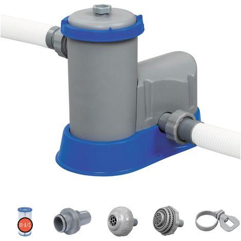 Filtre à cartouche Bestway - 5,678 m³/h - 86 W - Gris et bleu