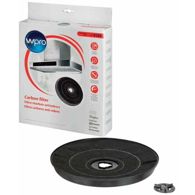 Filtre charbon type E233 FAC519 EFF57 (98756-1601) (ROBLIN 5403003 481281718534) Hotte DE DIETRICH, INDESIT, ARISTON HOTPOINT, ROBLIN, ZANUSSI,