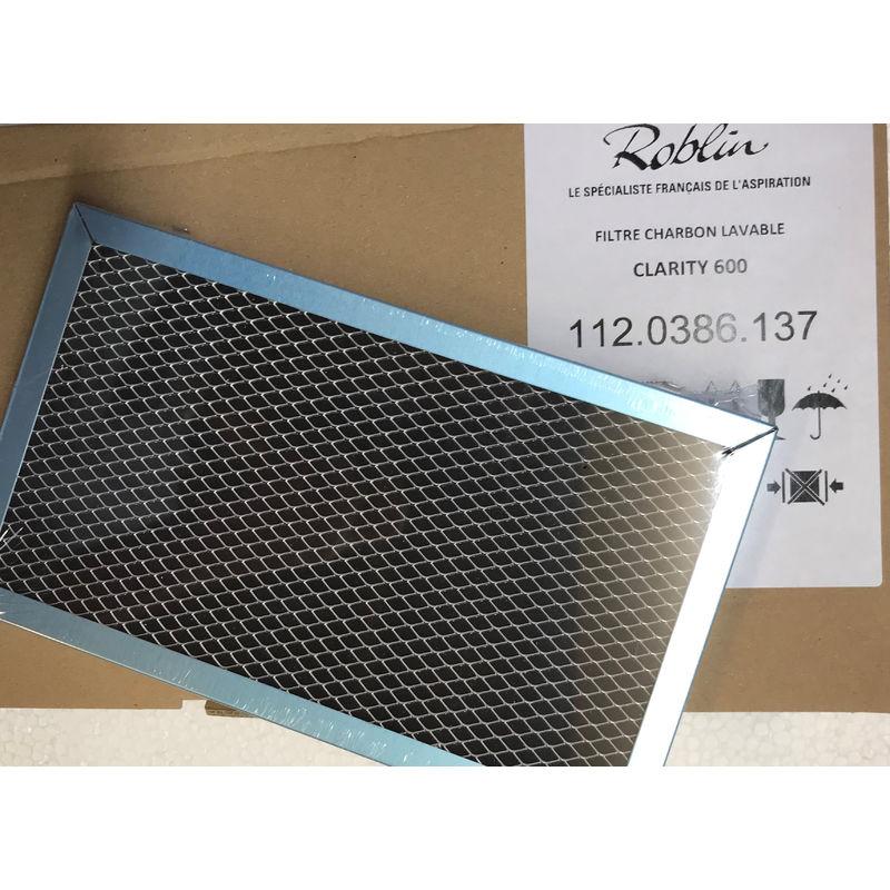 Filtre à charbon actif pour hotte Roblin Clarity 600 6403029 112.0386.137