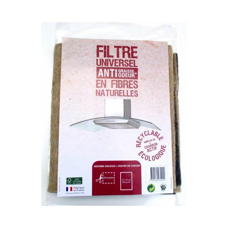 Filtre à charbon bio en fibre de lin naturel (LIN350) Hotte Toutes marques