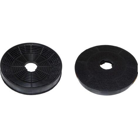 Filtre à charbon pour hotte, diamètre 160mm (lot de 2)