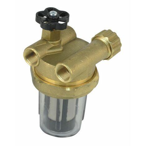Filtre à robinet d'arrêt série à recyclage