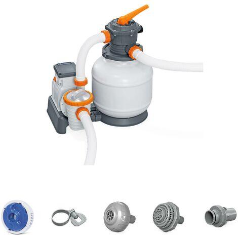 Filtre à sable Flowclear 7571L/h, pompe 280 watts avec diffuseur Chemconnect et préfiltre
