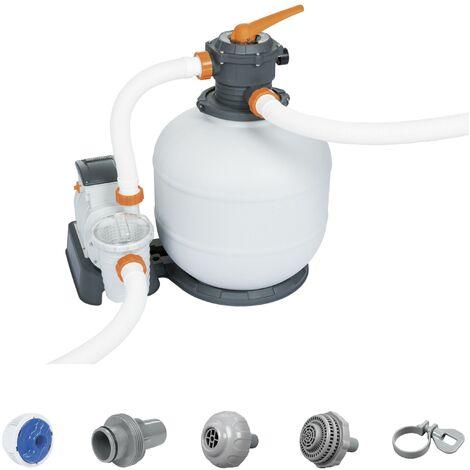 Filtre à sable Flowclear Bestway - 9,841 m³/h - 280 W - Blanc et gris