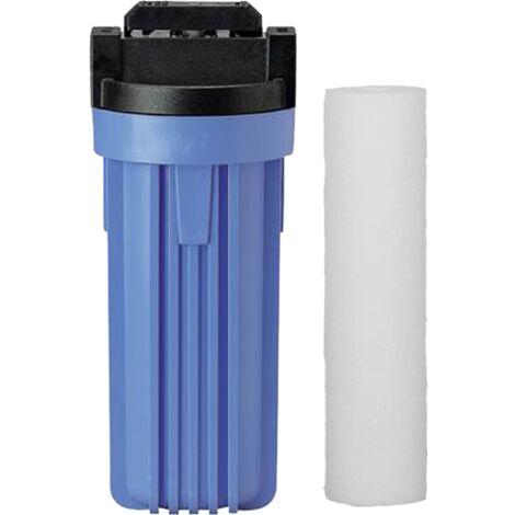 Filtre anti-impuretés 10 avec by-pass 3/4 et cartouche compressée 20µ de Centrocom - Filtres eau domestique